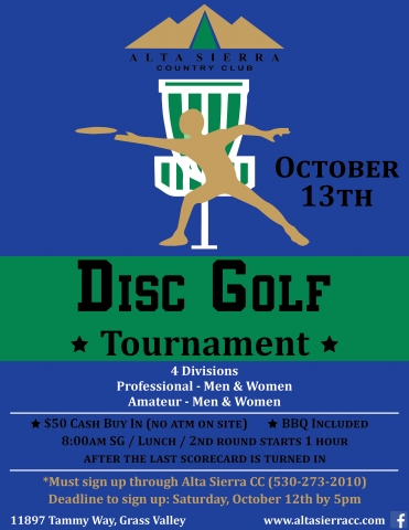 Disc Golf Tourney FINAL